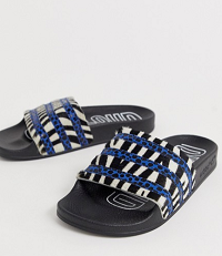 adidas Originals Adilette zebra print slider