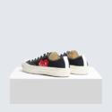 Converse X CDG PLAY 黑色爱心低帮女士帆布鞋