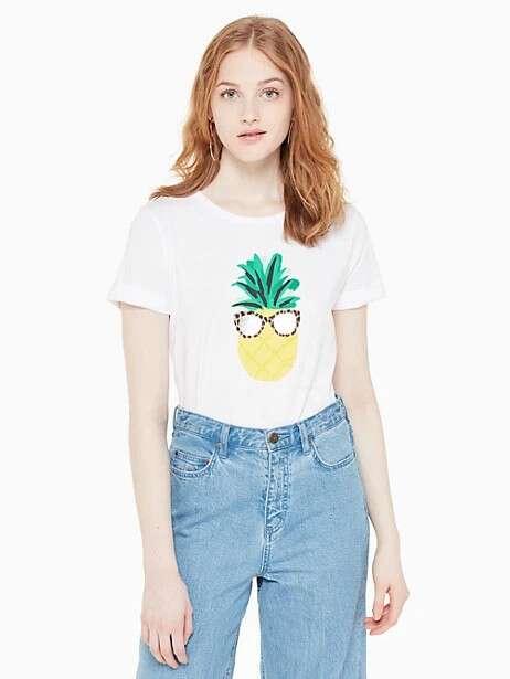 broome street 菠萝印花T恤