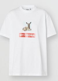 Montage Print Cotton Oversized T-shirt