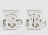 Monogram Motif Palladium-plated Cufflinks