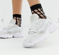 adidas Originals triple white Falcon trainers