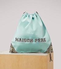 Maison Père Satin drawstring bag