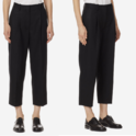 ACNE STUDIOS 羊毛黑色烟筒裤