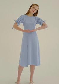 ROSIER Shirring Dress Blue
