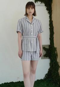 1159STUDIO MH1 Linen Stripe Pants_Blue