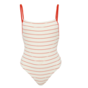 Solid & Striped 白色连体泳衣