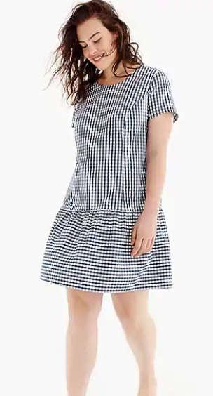 女士格纹连衣裙