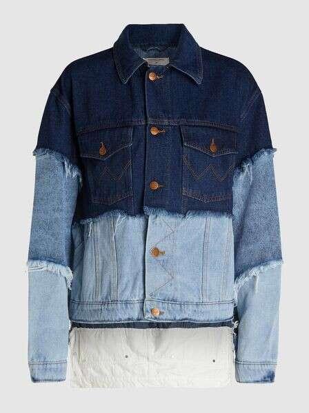NATASHA ZINKO Redone Multi-Layered Oversized Denim Jacket