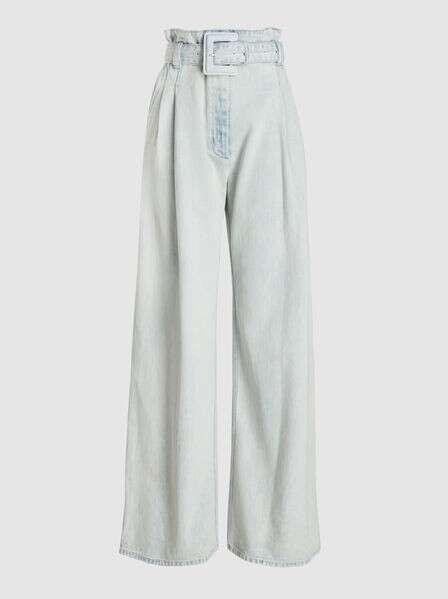PROENZA SCHOULER Acid Wash High-Rise Denim Trousers