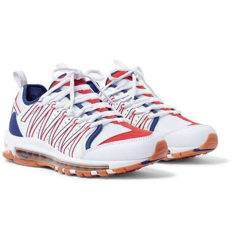 NIKE + CLOT Zoom Haven 97 Leather, Mesh And Suede Sneakers