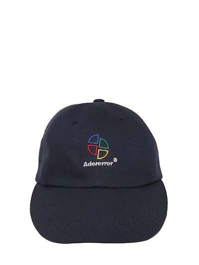 ADER ERROR EMBROIDERED COTTON BASEBALL HAT