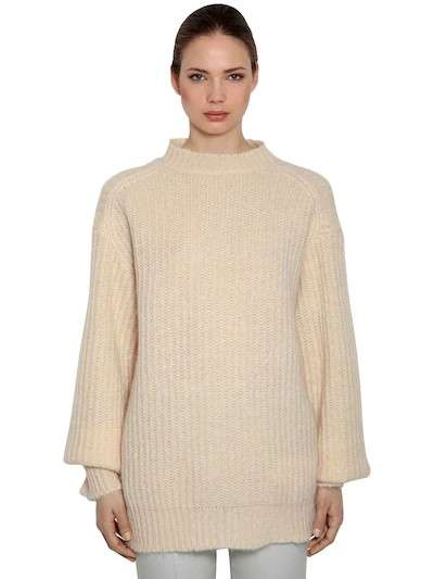 CALVIN KLEIN 205W39NYC OVERSIZED MOHAIR RIB KNIT SWEATER