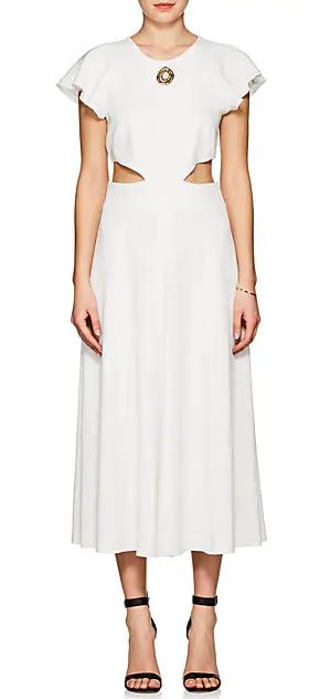 腰部镂空连衣裙