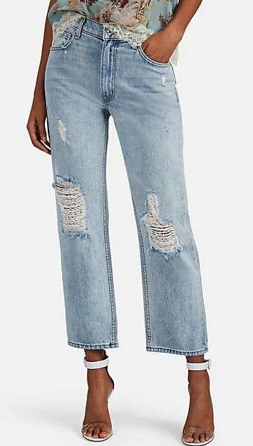 Pippa 破腿裤