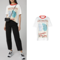 Acne Studios Esmeta Printed Cotton-Jersey T-Shirt