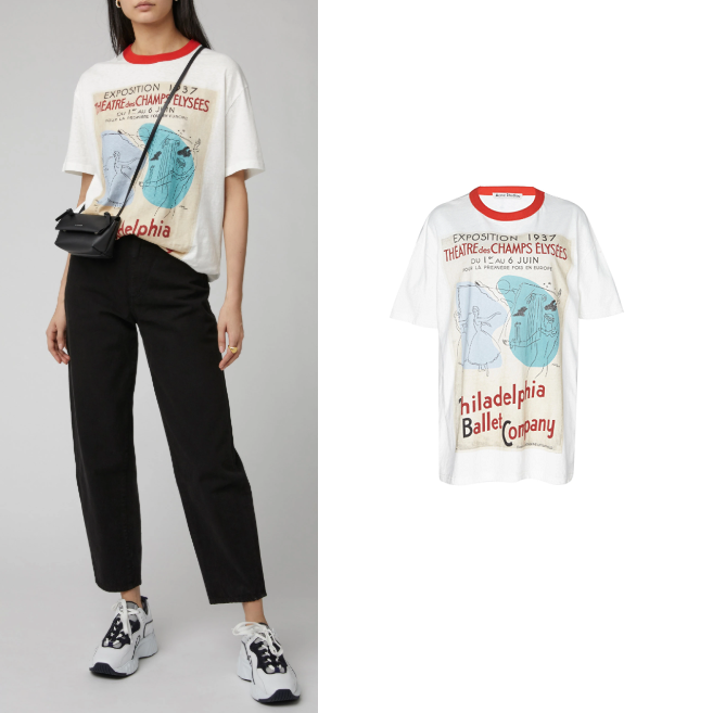 Acne Studios Esmeta Printed Cotton-Jersey T-Shirt