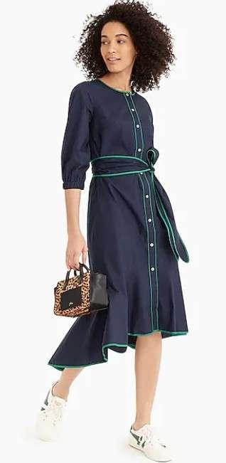 腰带连衣裙
