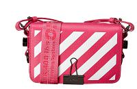 Off-White™ Diagonal Stripe Binder Clip Mini Leather Flap Bag