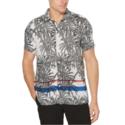 Perry Ellis Palm Print Soft Shirt 修身印花衬衫