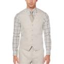 Perry Ellis Linen Cotton Twill Suit Vest 亚麻西装马甲