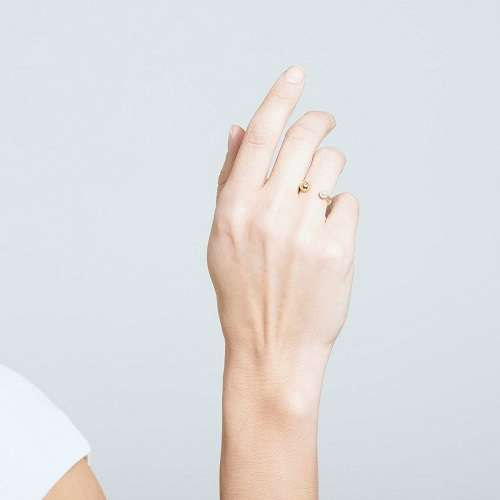 珍珠装饰开口戒指