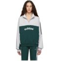 adidas Originals 阿迪达斯白绿运动外套