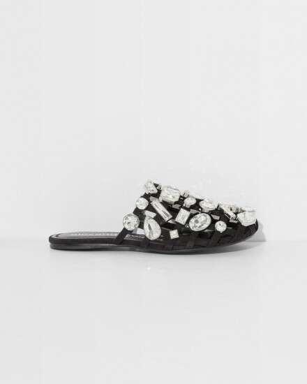 amelia 水晶穆勒鞋