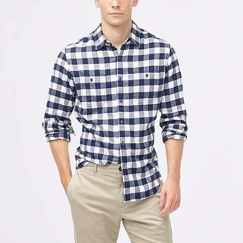 男士格纹衬衫