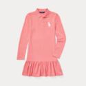 Ralph Lauren 大童款粉色 POLO 连衣裙
