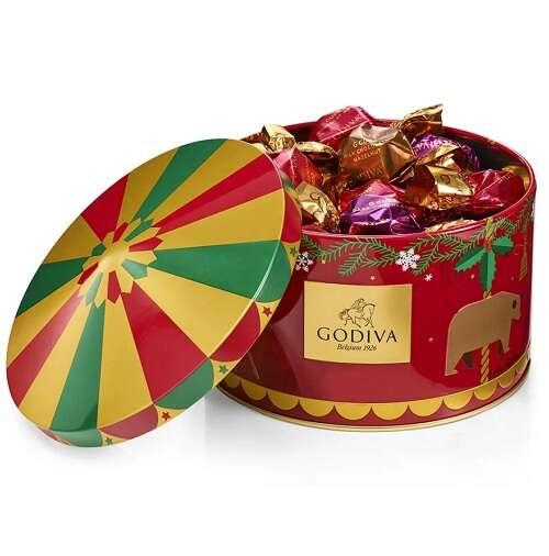 假日巧克力罐