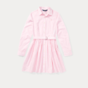Ralph Lauren 粉色大童款衬衫裙