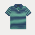 Ralph Lauren 大童款绿色格纹 Polo 短袖