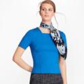 Brooks Brothers 黑蓝两色方领针织上衣