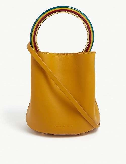 MARNI 蜂蜜色水桶包