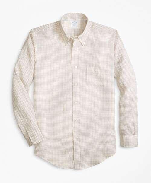 Brooks Brothers细格纹衬衫