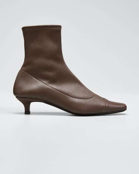 BY FAR Karl Stretch Leather Booties