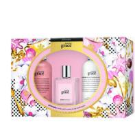 amazing grace shower gel, eau de toilette, & body lotion gift set
