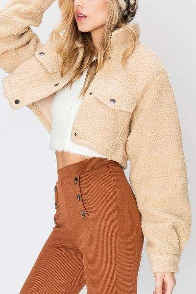 短款羊羔绒外套