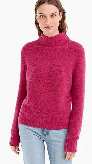 半高领毛衣