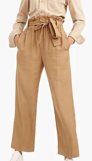 高腰直筒裤