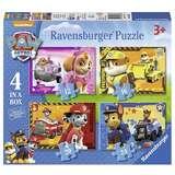 Ravensburger 睿思 狗狗巡逻队系列四合一拼图儿童玩具 12+16+20+24片