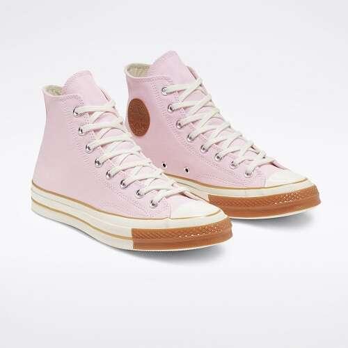 粉色高帮帆布鞋