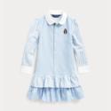 Ralph Lauren 拉夫劳伦 Bear Striped 2-6岁小童衬衫裙