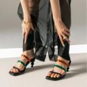 Yuul Yie 一字带鞋面艺术感高跟穆勒鞋