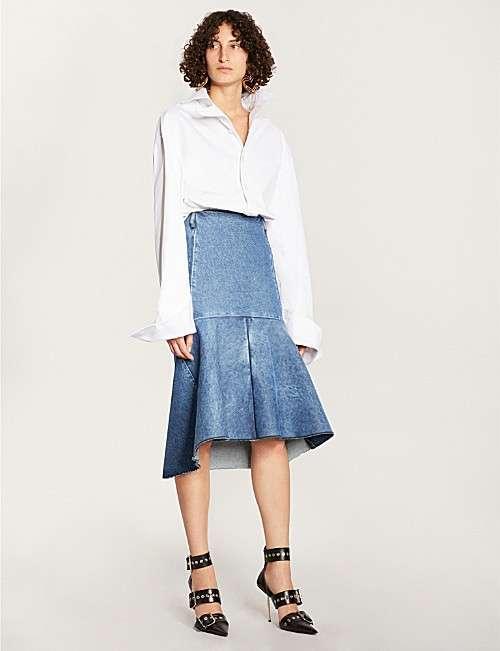 斜纹棉布裙