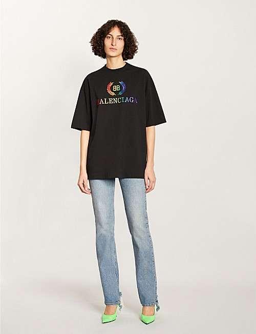 Laurier 标识印花棉 T 恤