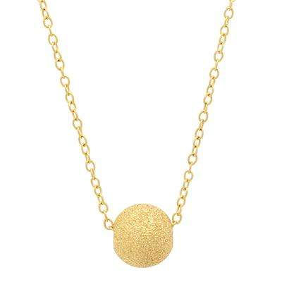 纯银镀金圆球项链