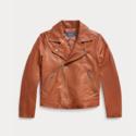 Ralph Lauren 拉夫劳伦 Leather Moto Jacket 7-16岁皮衣