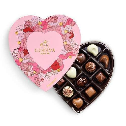 心形巧克力礼盒 14颗